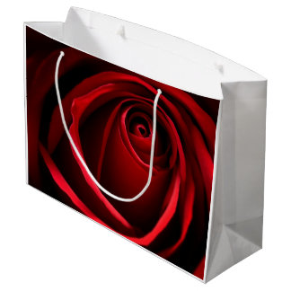 Rosen-Geschenk-Tasche - groß Große Geschenktüte