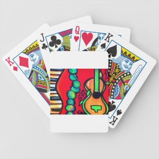 Rosen-Gitarre Bicycle Spielkarten
