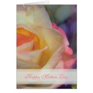 Rosen-glückliche Mutter-Tageskarte Grußkarte