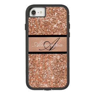 Rosen-Gold bezaubernd und schwarzer Schein Case-Mate Tough Extreme iPhone 8/7 Hülle