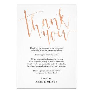 Rosen-Gold danken Ihnen, Hochzeit zu kardieren Karte