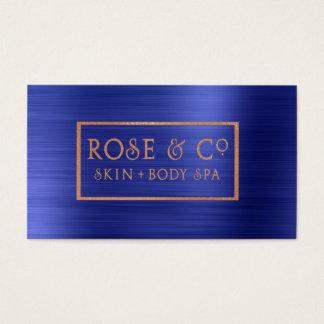 Rosen-Gold erröten Smaragdkobalt-Blau-Spant 4 Visitenkarten