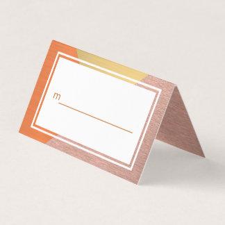 Rosen-Gold und kupferne moderne Hochzeit Ihre Platzkarte