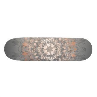 Rosen-GoldblumenMandala 18,4 Cm Mini Skateboard Deck