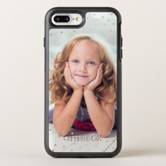 Rosen-GoldConfetti u. Gewohnheits-Foto OtterBox Symmetry iPhone 8 Plus/7 Plus Hülle