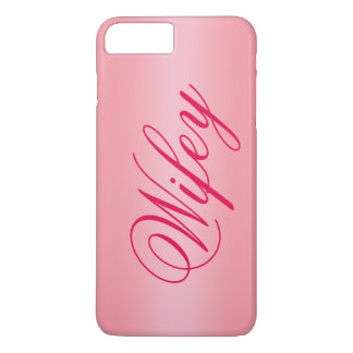 Rosen-Goldentzückender Wifey iPhone 7 Fall iPhone 8 Plus/7 Plus Hülle