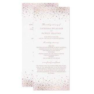 Rosen-Goldfolieconfetti-elegante Karte