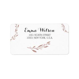 Rosen-Goldfolien-Hochzeits-Adressen-Etiketten mit Adressaufkleber