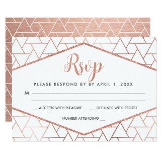 Rosen-Goldgeometrische Hochzeit UAWG Wartekarte Karte