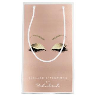 Rosen-GoldGlitzer-Make-up peitscht Schönheits-Rosa Kleine Geschenktüte