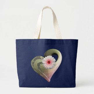 Rosen-Goldherz-Damen-Tasche Jumbo Stoffbeutel