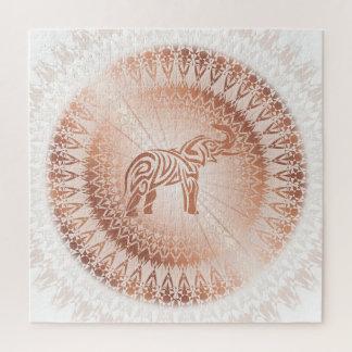 Rosen-Goldmandala-Elefant Puzzle