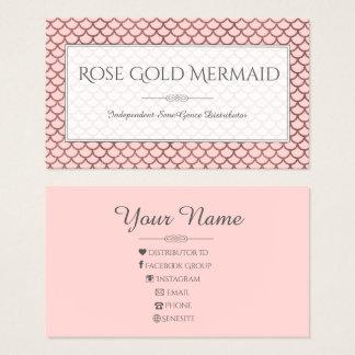 Rosen-Goldmeerjungfrau LipSense Make-upkünstler Visitenkarte