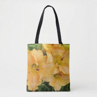 Rosen-Goldregnerischer TagesTaglilien Tasche