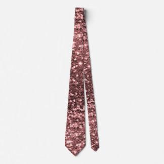 Rosen-Goldrosa-Imitat-Glitter-Schein-Muster Personalisierte Krawatte
