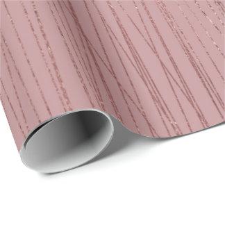 Rosen-Goldrote Bohnen-empfindliche Streifen-Linien Geschenkpapier