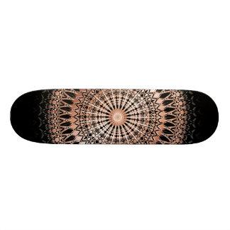 Rosen-GoldschwarzesMandala 20,1 Cm Skateboard Deck