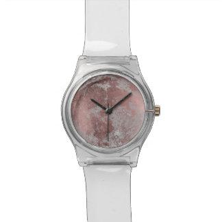 Rosen-Goldvollmond-moderner Planet Armbanduhr