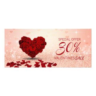 Rosen-Herz-Blumenstrauß des Valentines Tages- Werbekarte