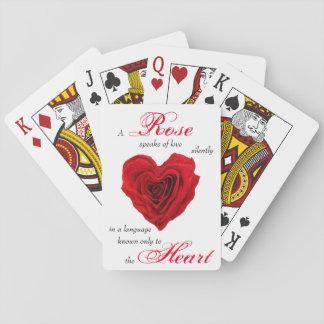 Rosen-Herz-Form - Spielkarte-Plattform Spielkarten