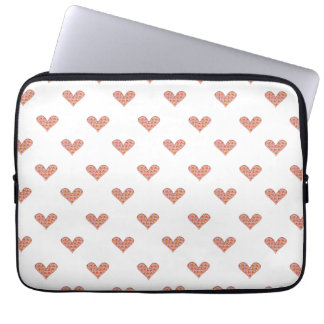 Rosen-Herz-Muster Laptop Sleeve
