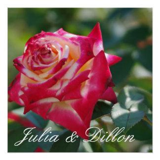 Rosen-Hochzeit Poster