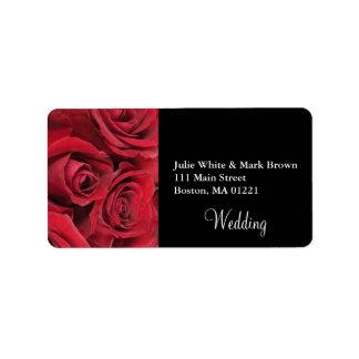 Rosen-Hochzeits-Adressen-Etikett Adressaufkleber