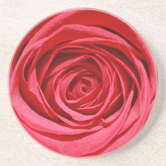 Rosen-Hochzeits-Blumen-glatte Blumenmuster Untersatz