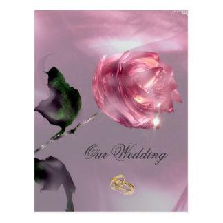 Rosen-Hochzeits-Einladung Postkarten