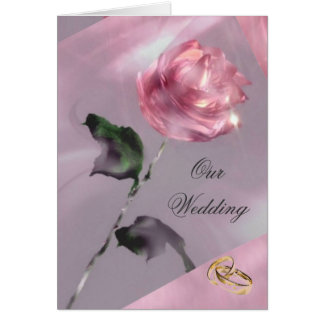 Rosen-Hochzeits-Einladungs-Karte Grußkarte