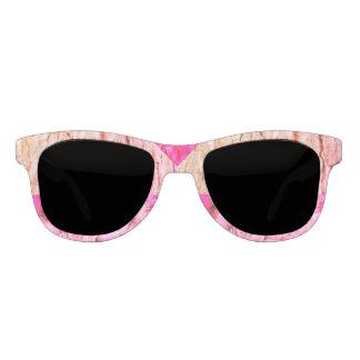 Rosen-Holz und rosa Sonnenbrille