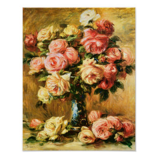 renoir blumen vase poster designs. Black Bedroom Furniture Sets. Home Design Ideas