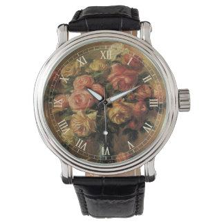 Rosen in einem Vase durch Pierre Renoir, Vintage Armbanduhr