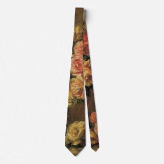 Rosen in einem Vase durch Pierre Renoir, Vintage Personalisierte Krawatten