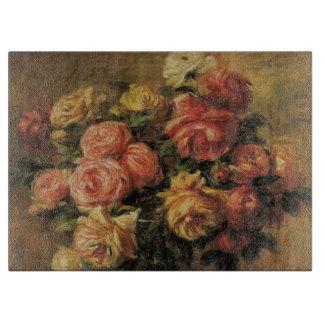 Rosen in einem Vase durch Pierre Renoir, Vintage Schneidebrett