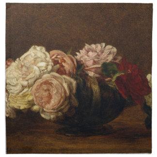 Rosen in einer Schüssel - Henri Fantin-Latour Stoffserviette