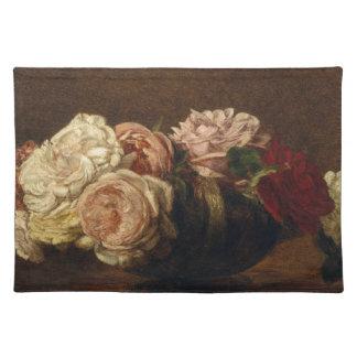Rosen in einer Schüssel - Henri Fantin-Latour Stofftischset