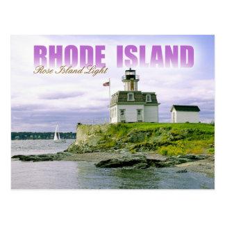 Rosen-Insel-Leuchtturm, Newport, Rhode Island Postkarte