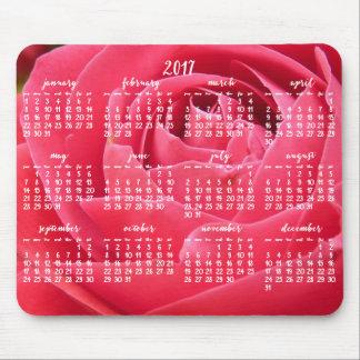 Rosen-jährliche Kalender-Mausunterlagen 2017 Mousepads