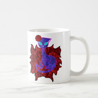 Rosen-Katzen-Wasser-Malerei Kaffeetasse