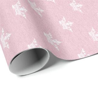 Rosen-Kraftpapier-Kronen-Weiß Geschenkpapier