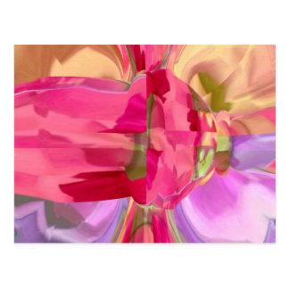 Rosen-Kristall - RedRose PinkRose Blumenblatt Postkarte