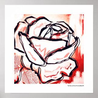 Rosen-Kunst - Rosen-Dekor - zeitgenössische Rote Poster