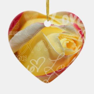 Rosen-Liebe-Anhänger Weihnachtsbaum Ornament