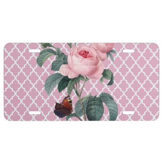 Rosen-Marokko-Rosa US Nummernschild