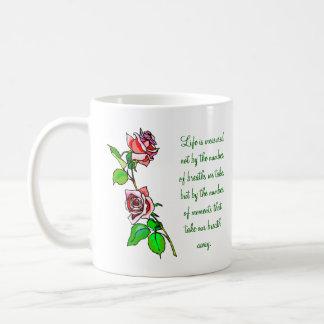 Rosen-Maß Leben Kaffeetasse