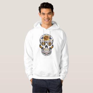 Rosen-mexikanischer Zuckerschädel-Tag der Toten Hoodie