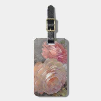 Rosen mit Grau Gepäckanhänger