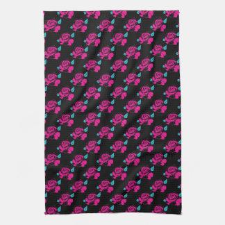 Rosen-Muster Hand-gezeichnete Handtuch