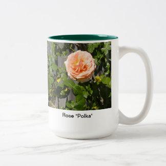Rosen-Polka Zweifarbige Tasse